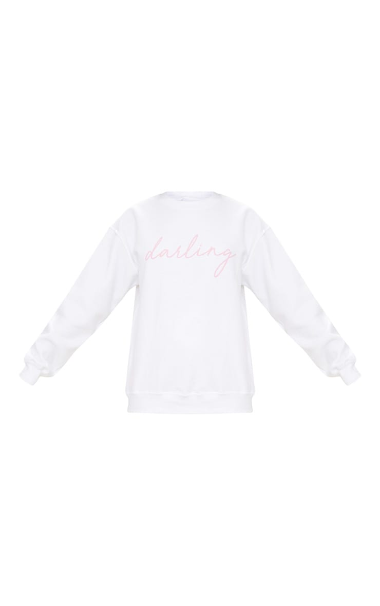 Sweat oversized blanc Darling 3