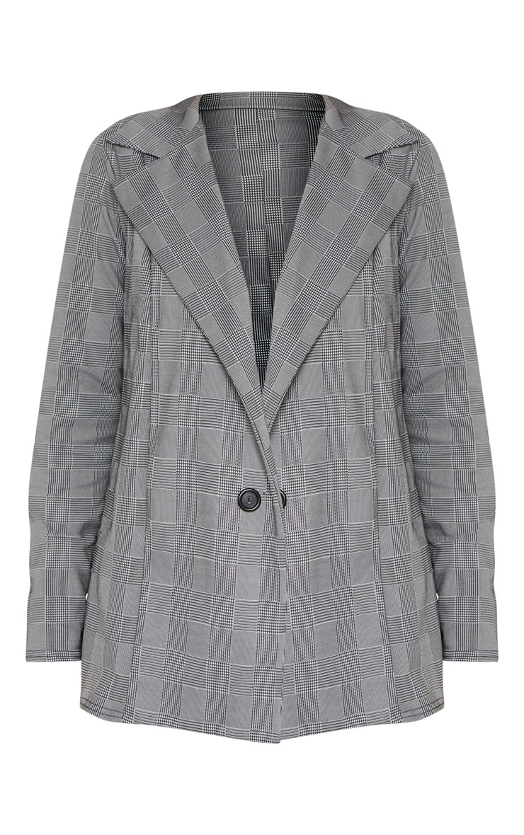Grey Checked Blazer  3