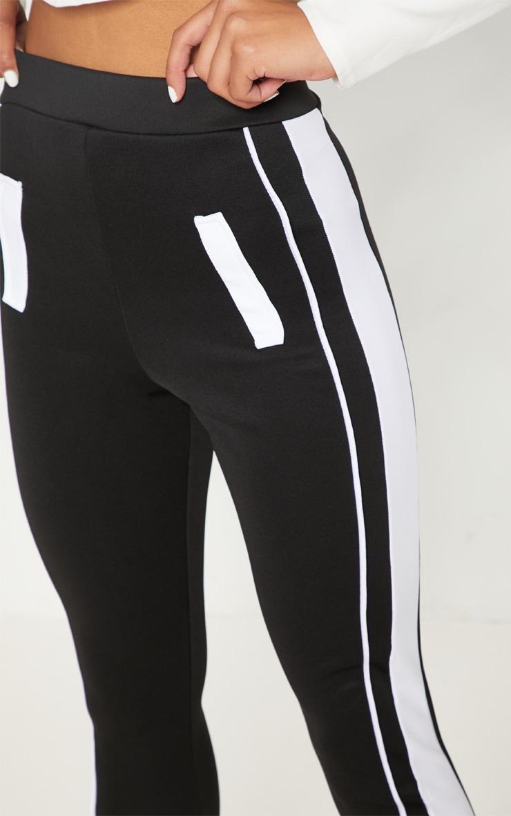 d8f037d5060f Black Scuba Contrast Side Stripe Skinny Trouser   PrettyLittleThing