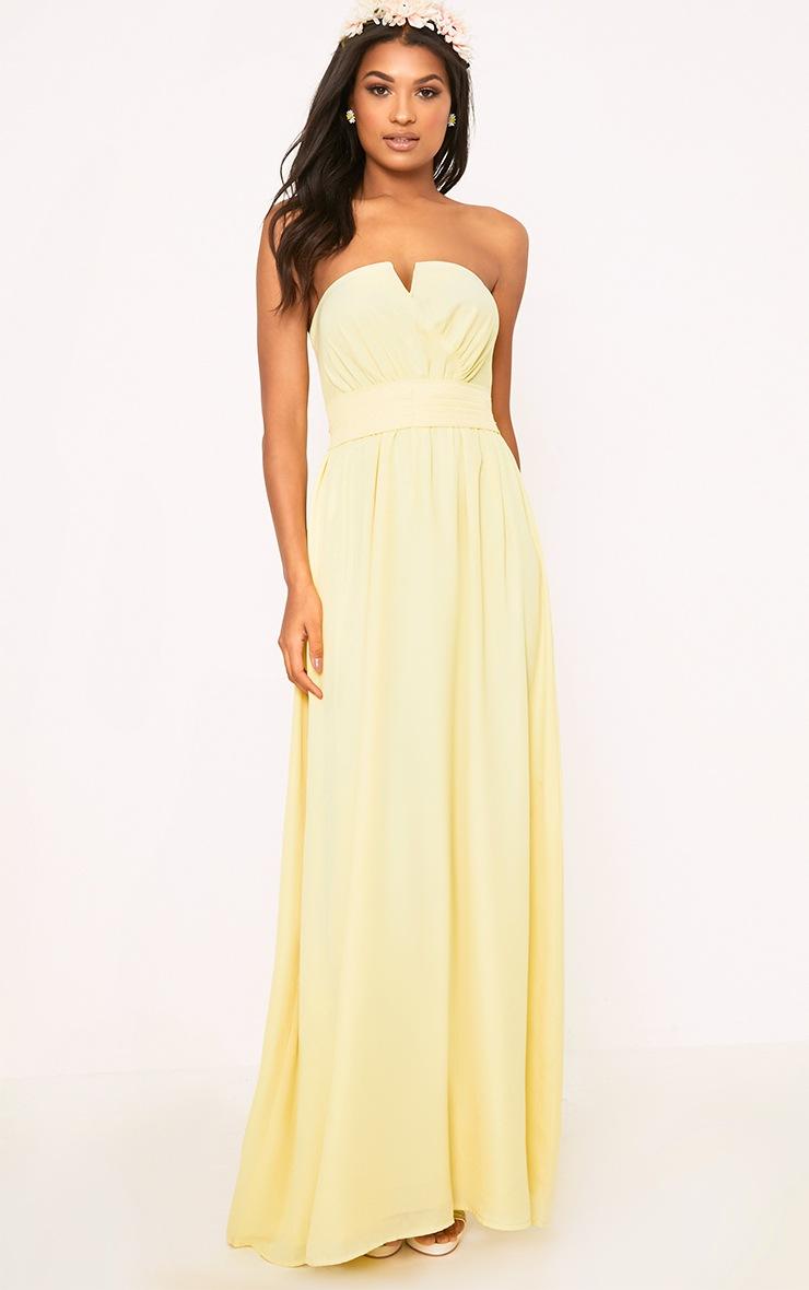 Lainey Lemon Bandeau Maxi Dress  1