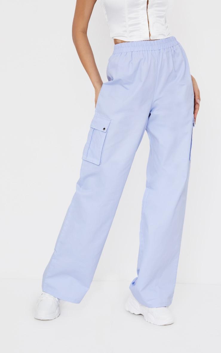 Lilac Wide Leg Cargo Pants 2