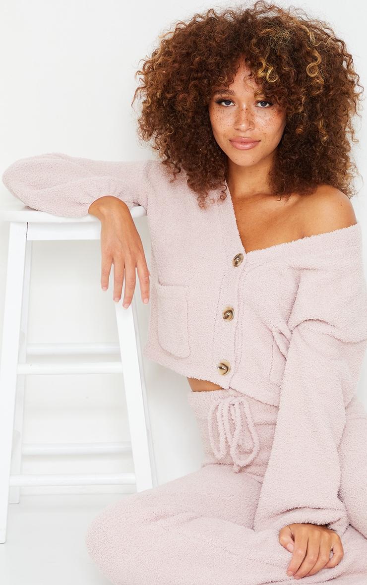 Nude Premium Fluffy Knit Wide Leg Set 4