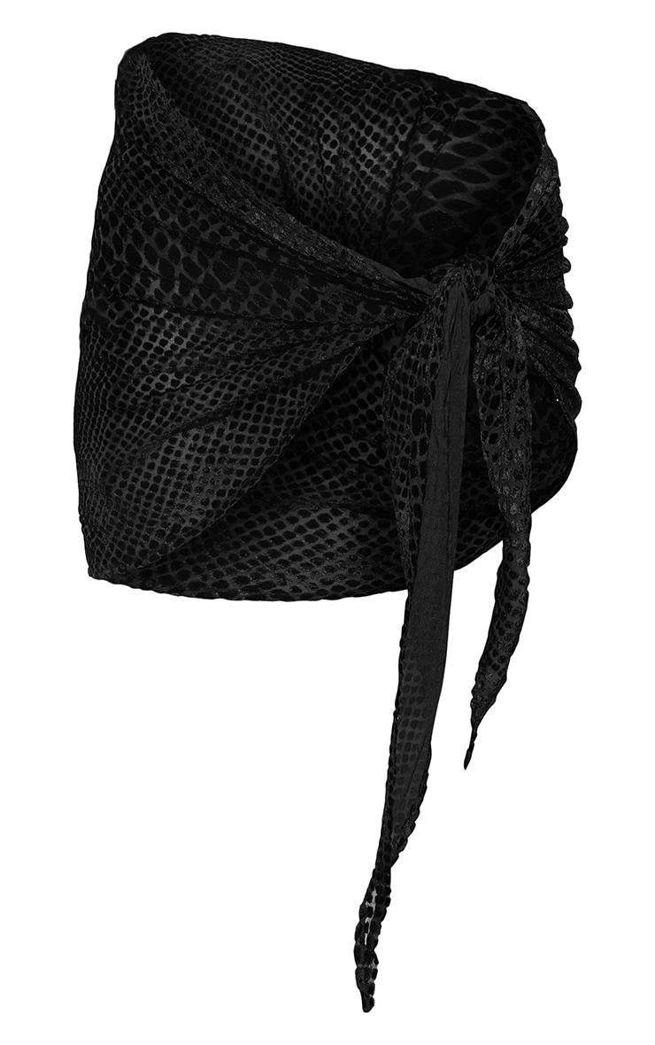 Black Devore Sarong 6
