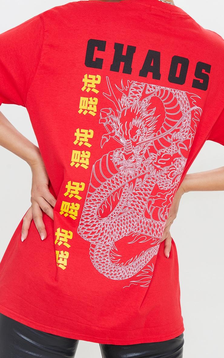 Red Chaos Dragon T Shirt 4