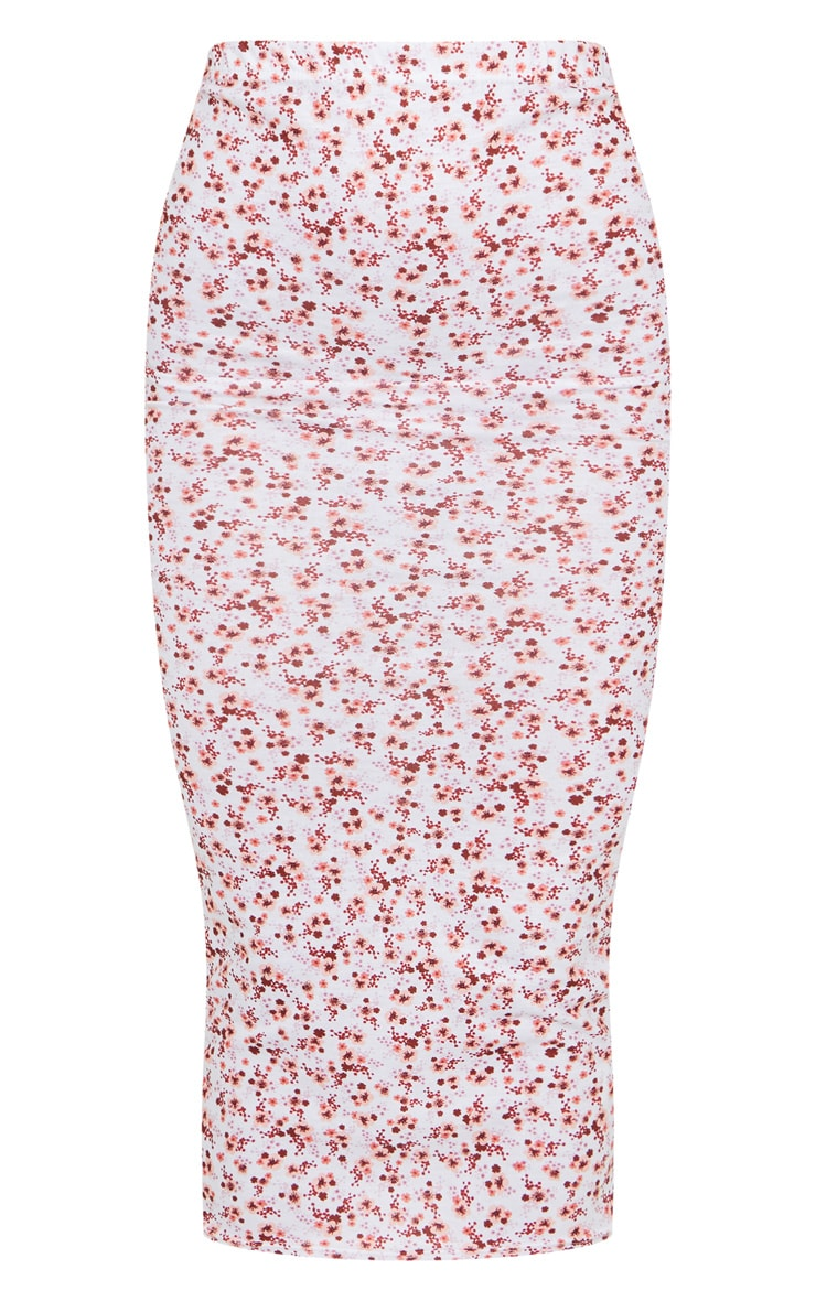 Pink Ditsy Floral Midaxi Skirt 5