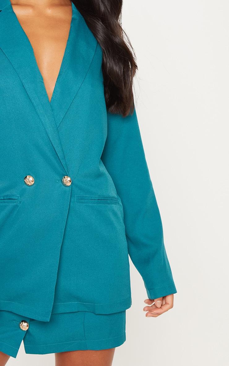 Petite Emerald Green Button Detail Blazer 5