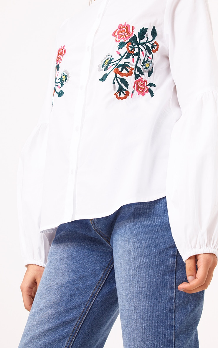 White Embroidered Shirt 5