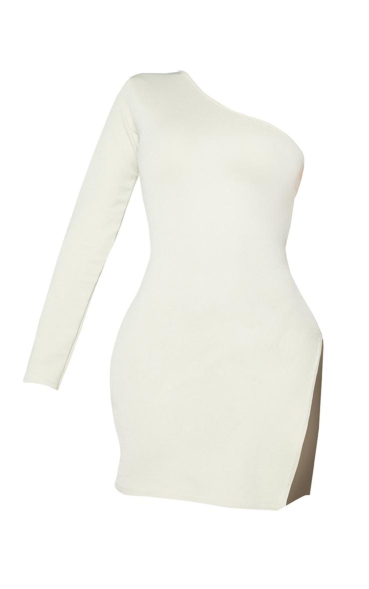 Shape Sage Green One Shoulder Split Detail Bodycon Dress 5