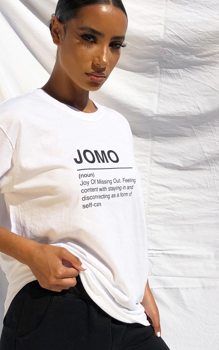 White Jomo Slogan T Shirt 3