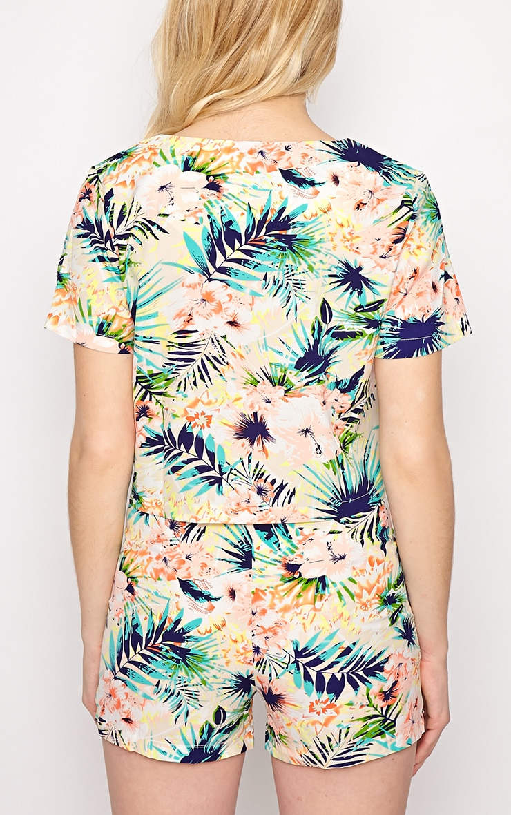Kyla Tropical Print Crop Top 2