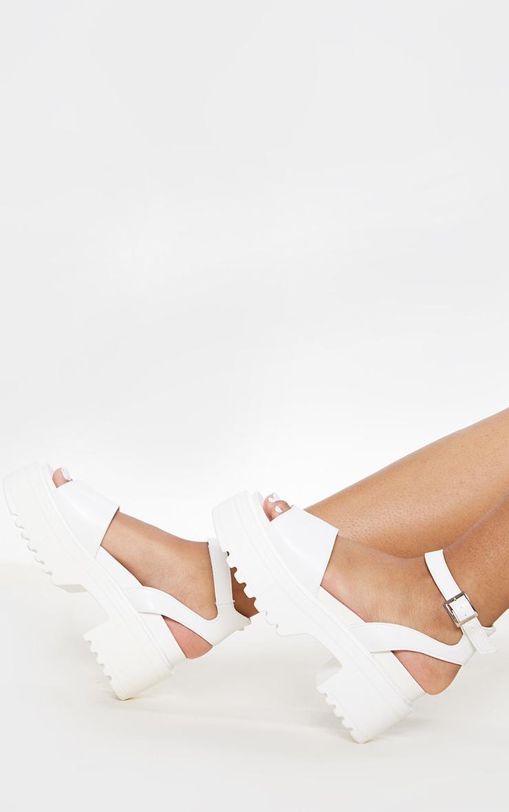 White Chunky Sandal 1
