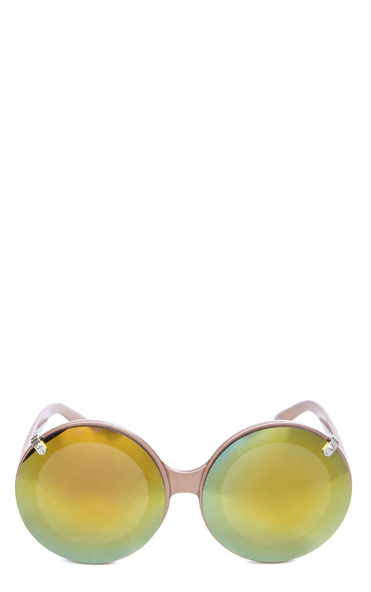 Tora Gold Mirrored Flip Up Sunglasses 2