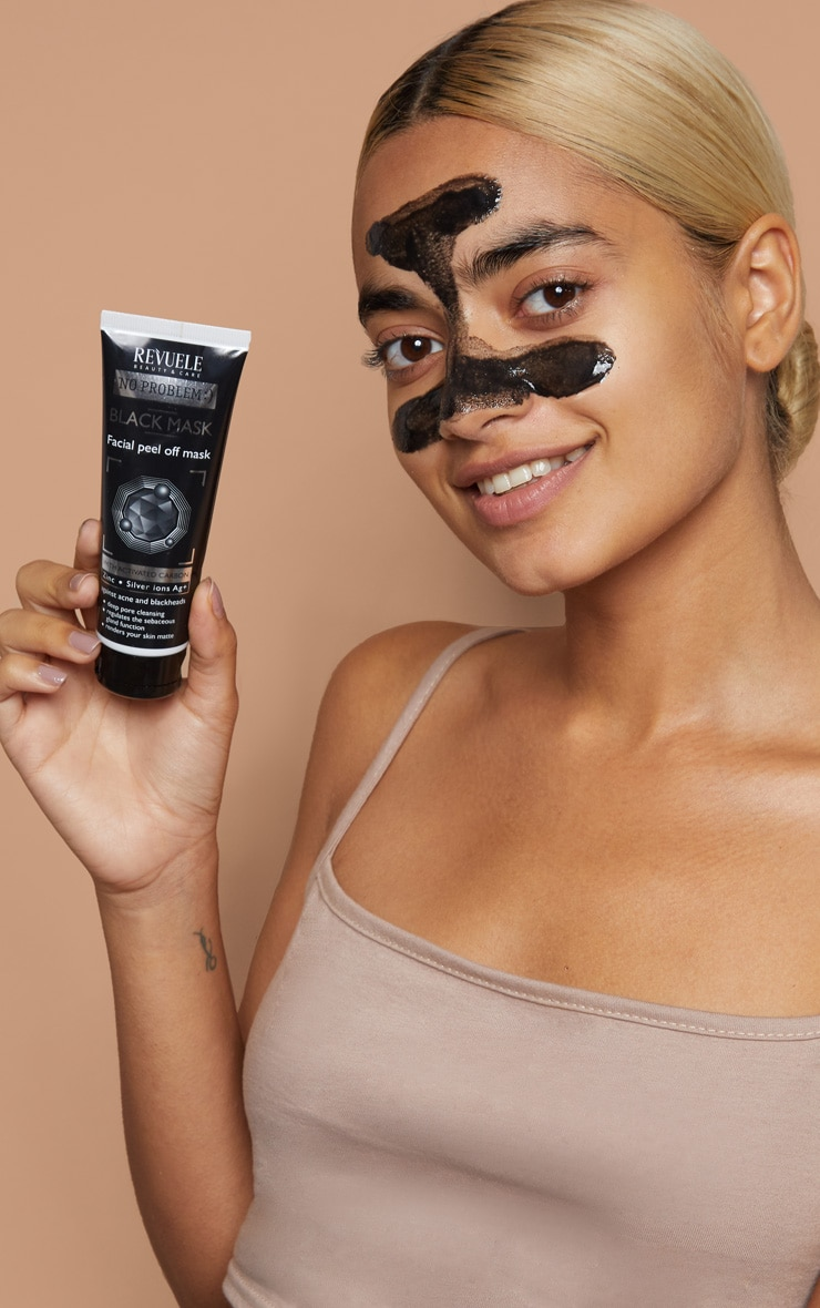 Revuele No Problem Charcoal Peel Off Facial Mask  3