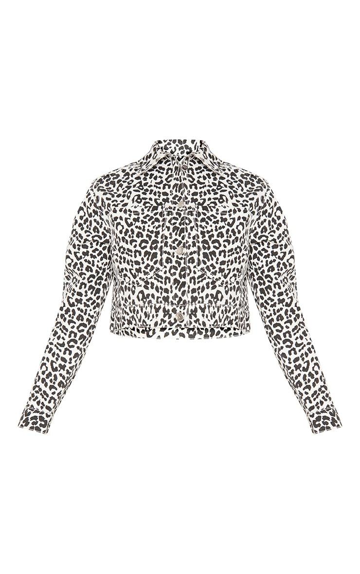 Monochrome Leopard Denim Jacket 4
