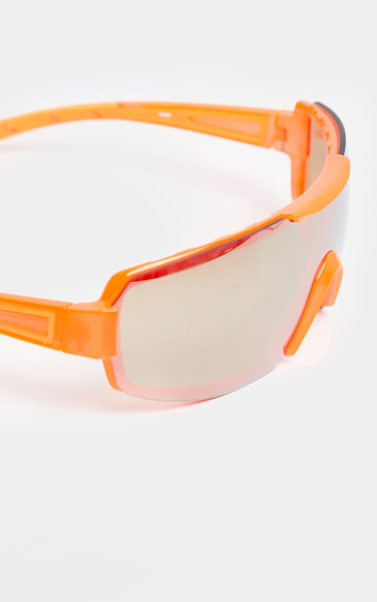 Neon Orange Revo Sports Visor Sunglasses 4