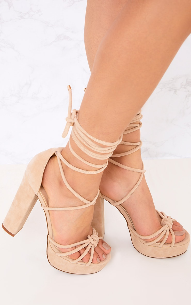 Nude Lace Up Platforms 1