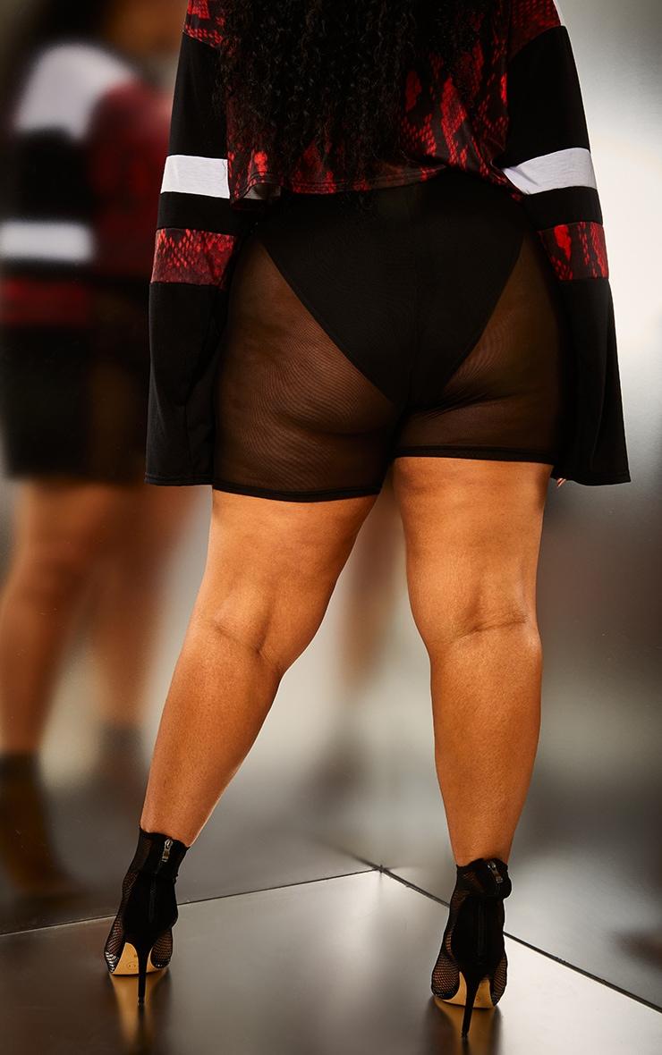 Plus Black Mesh Y2K Cycle Shorts 3