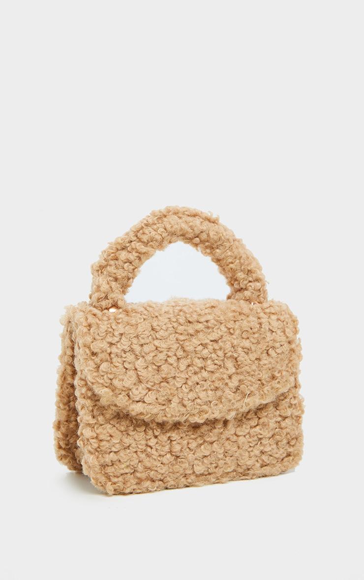Biscuit Faux Shearling Mini Grab Bag  2