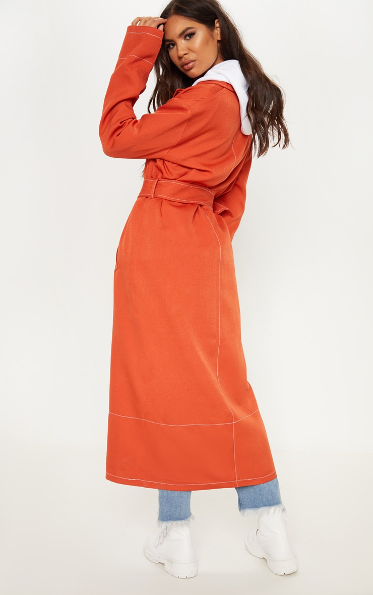 Rust Belted Trench 2