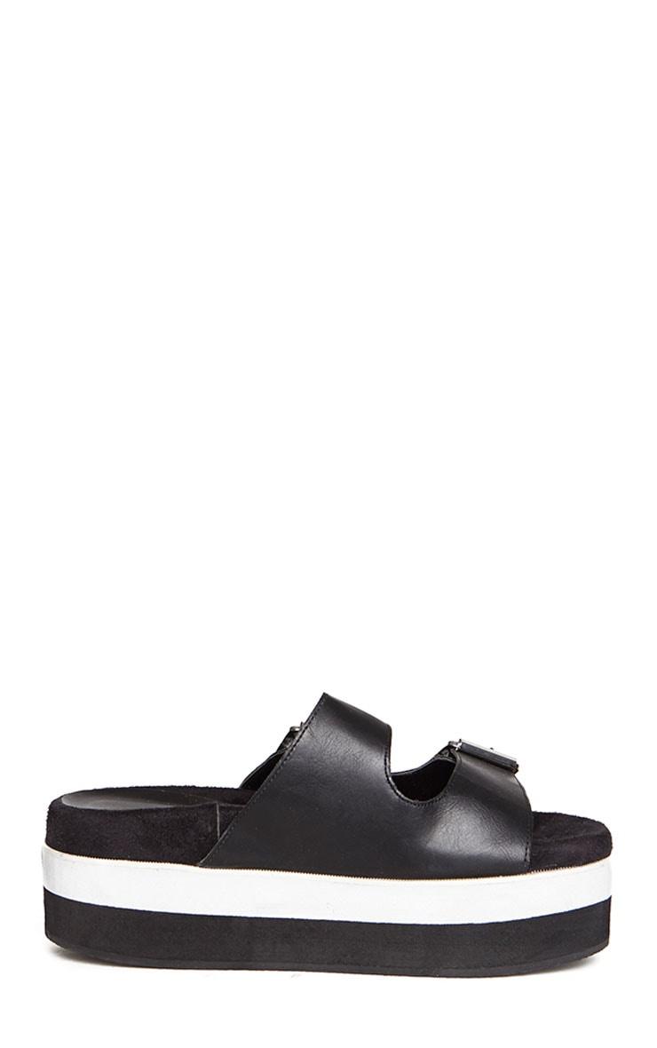 Cody Black Buckle Flatform Sandals 5