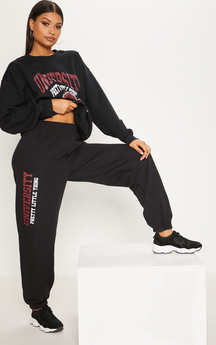 Black Sorority Slogan Joggers 1