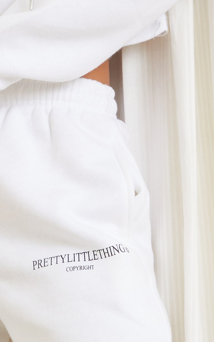 PRETTYLITTLETHING White Copyright Graphic Joggers 4