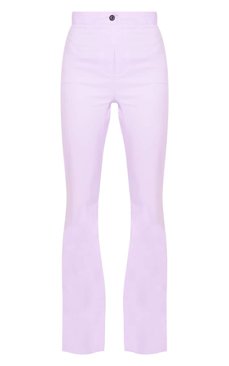 Plain Lilac Flared Pants 5