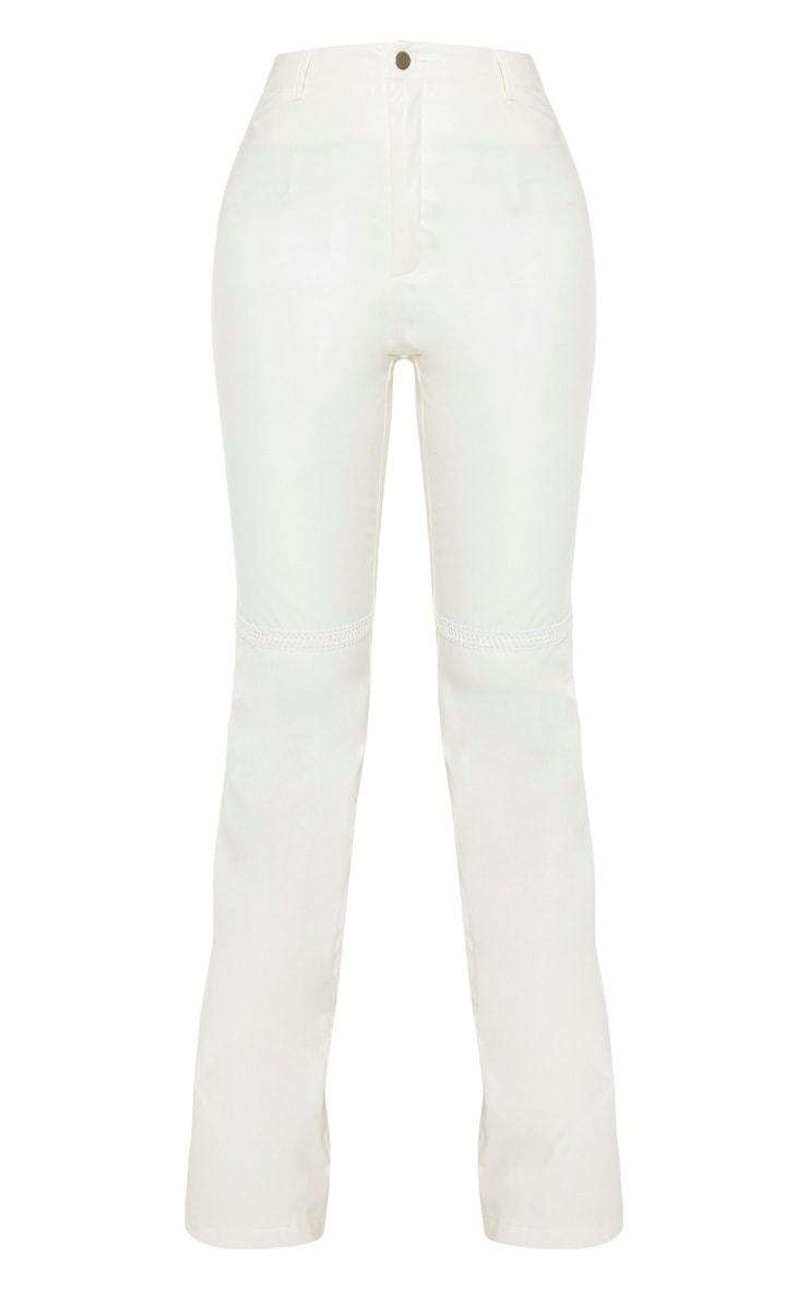 Tall White PU Straight Leg Pants 3