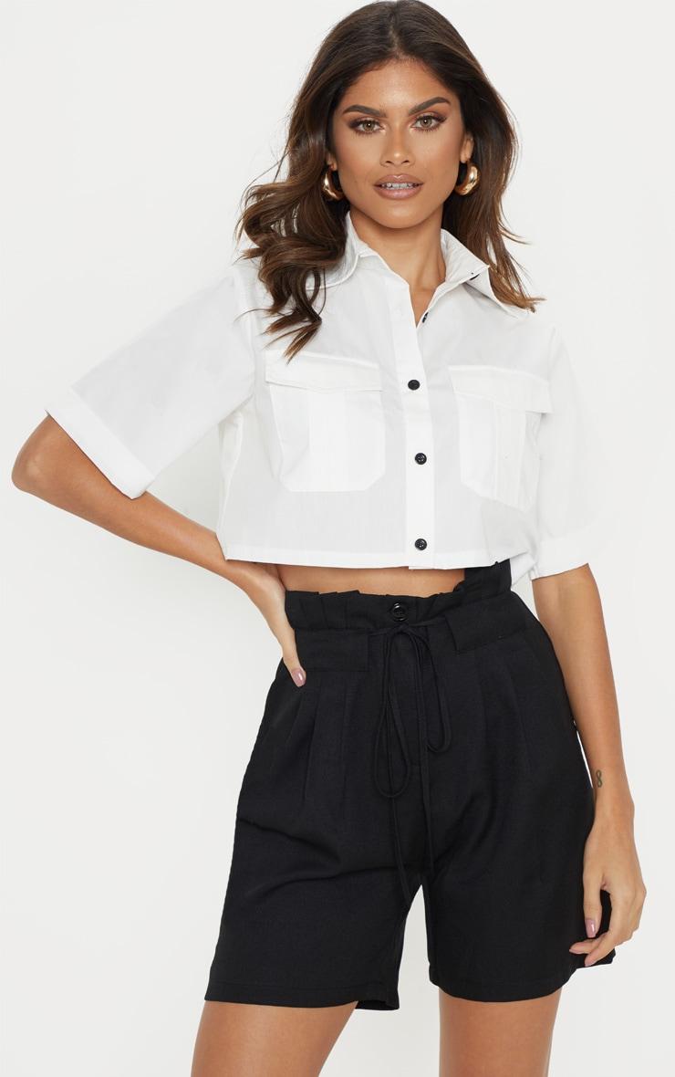 Black Tie Waist Shorts 1