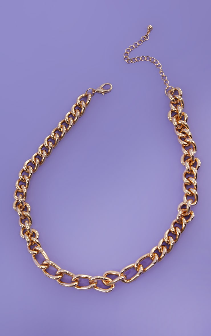 Gold Assorted Curb Chain Necklace 3