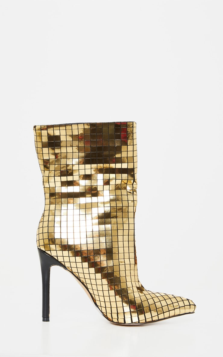 Gold Disco Ball Ankle Boot 3