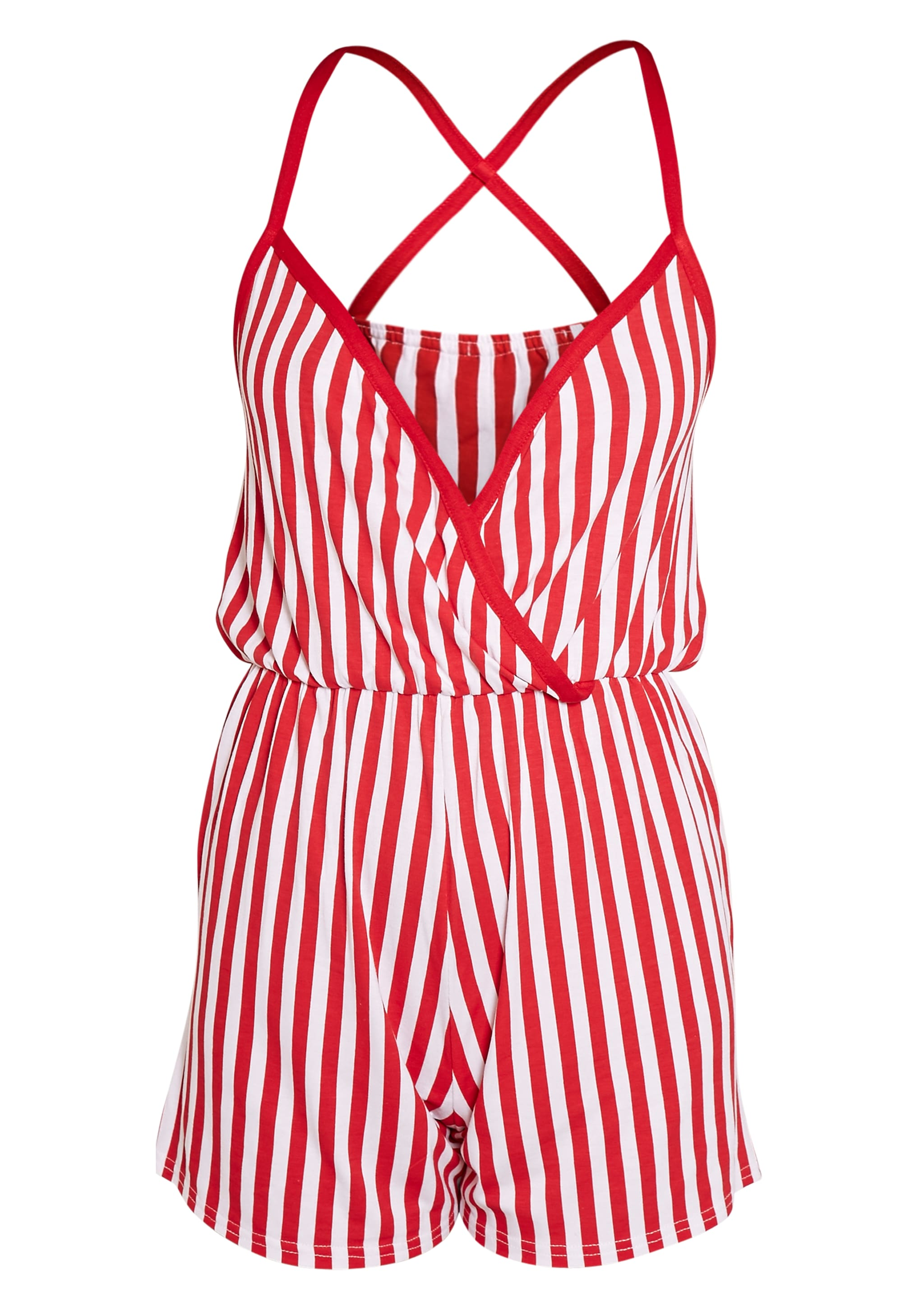 Sami Red Striped Teddy Nightsuit 3
