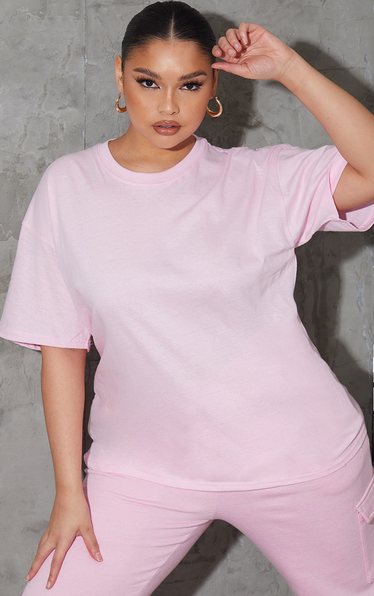 Plus Ultimate Light Pink Oversized T Shirt 1