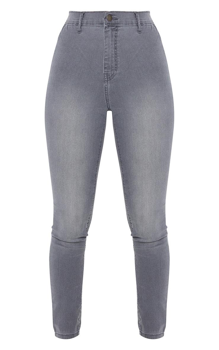 Jean disco skinny gris 5