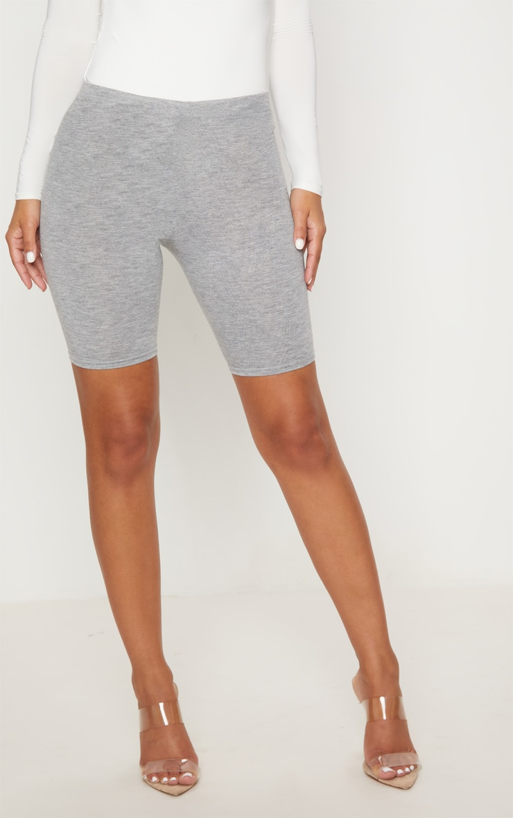 Petite Grey Marl Basic Bike Shorts 2