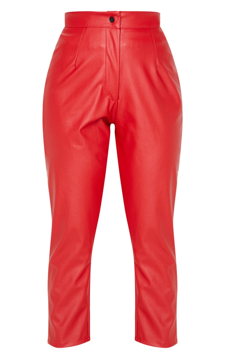 Scarlet Faux Leather Slim Leg Trousers 3