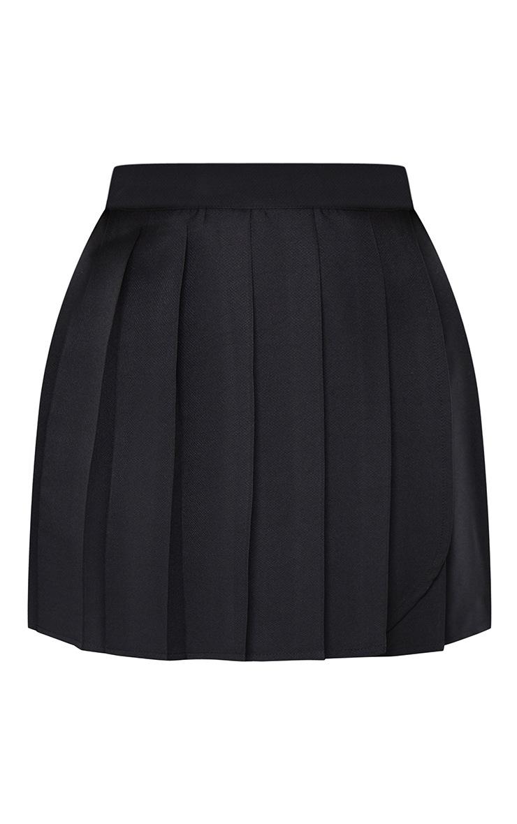 Black Woven Skater Skirt 6