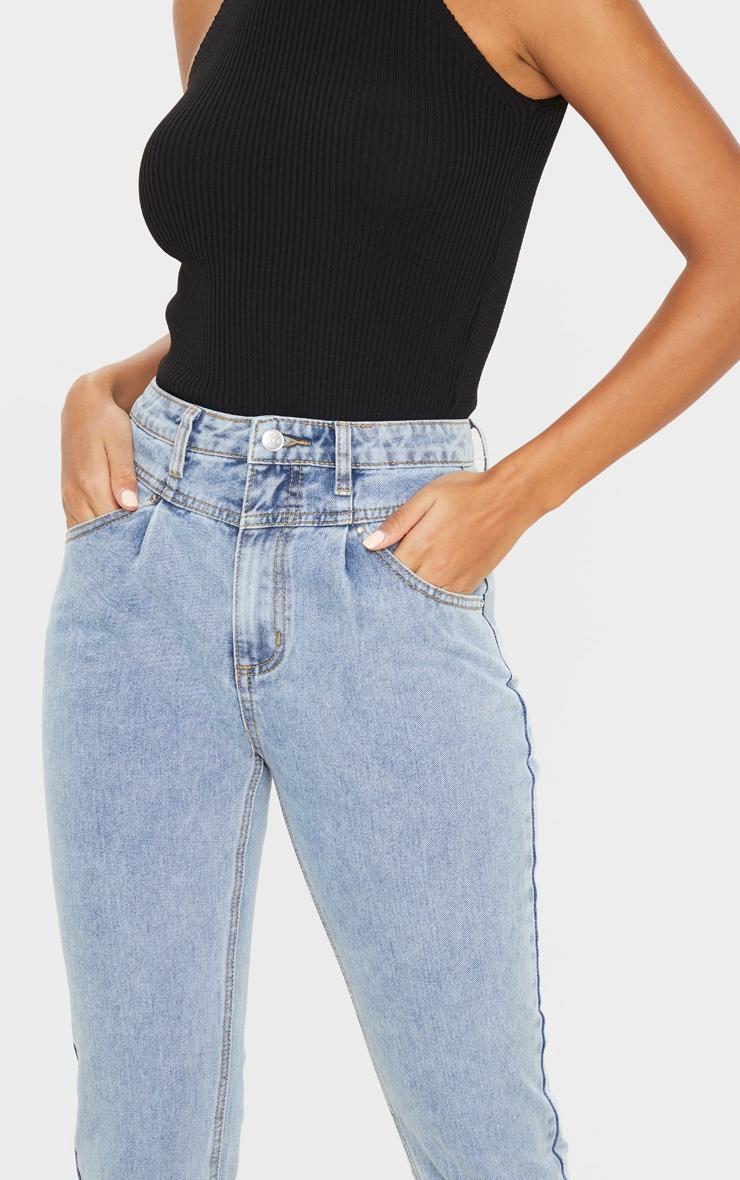 Vintage Wash Seam Front Straight Leg Jeans 5