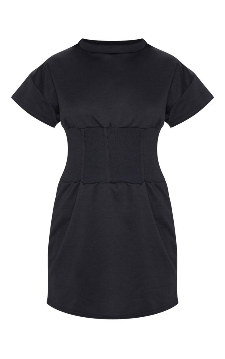 Black Corset Detail Sweater Dress 3