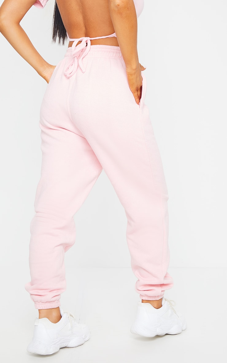 Baby Pink Seam Front Detail Joggers 3