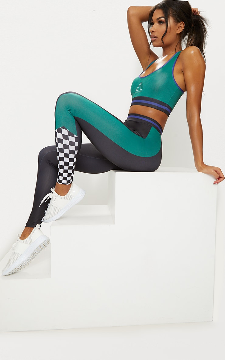 Black Motocross Sports Leggings 1