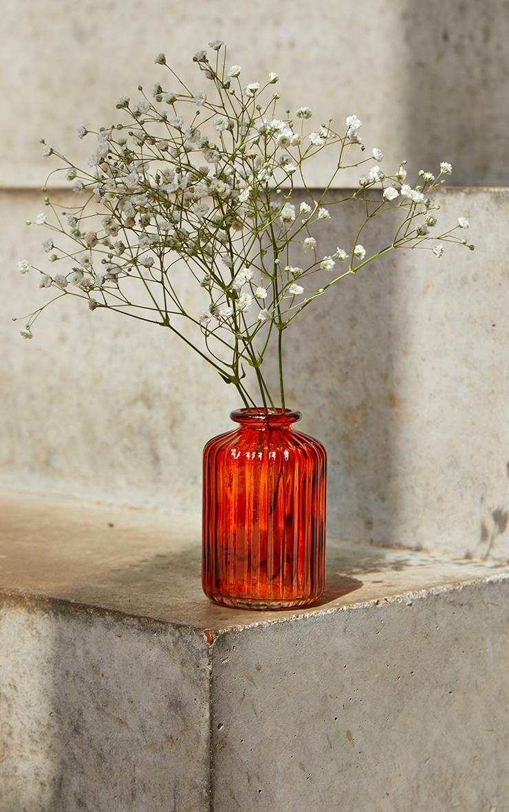 Amber Glass Bud Vases - Set of 3 3
