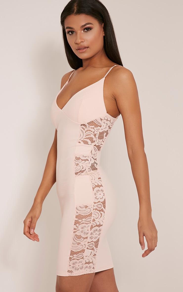 Adina Blush Lace Insert Mini Dress 1