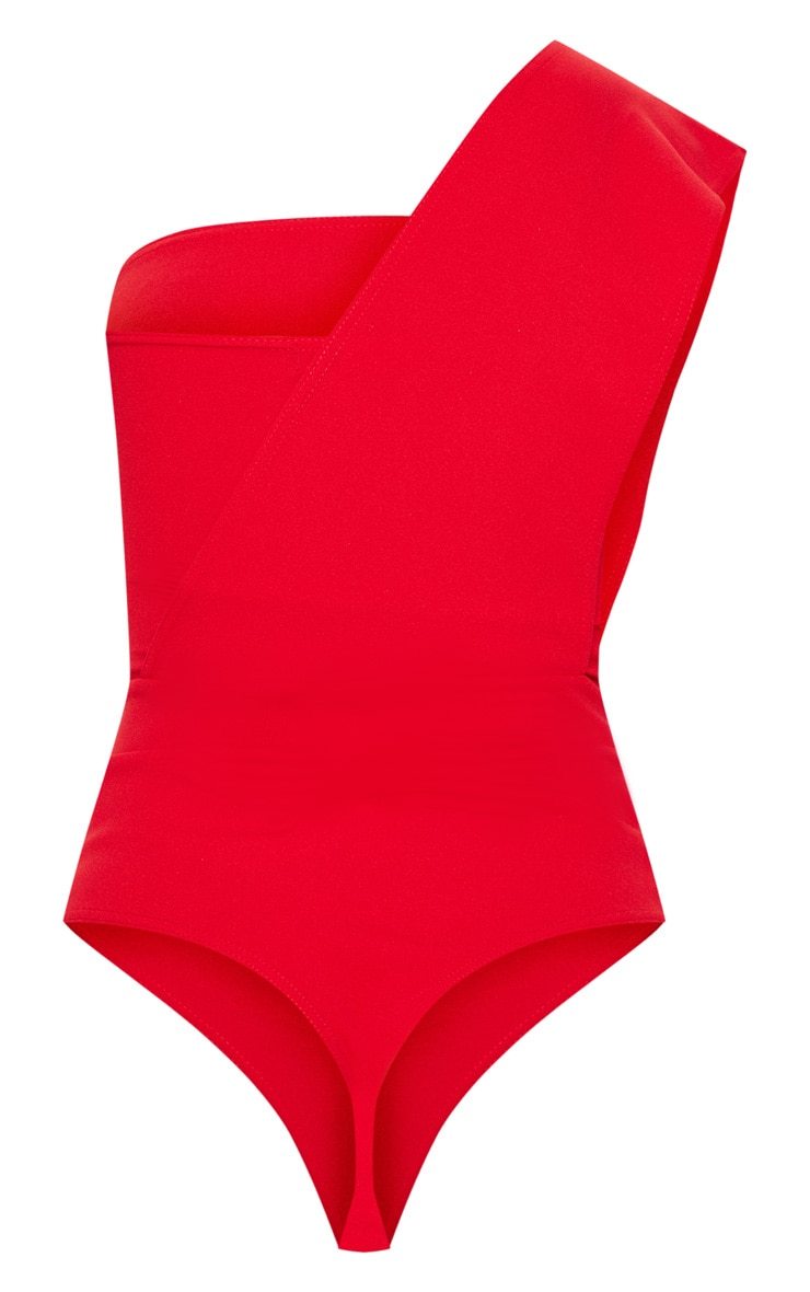 Red One Shoulder Bodysuit 4
