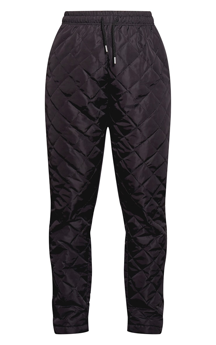 Black Quilted Jogger  3