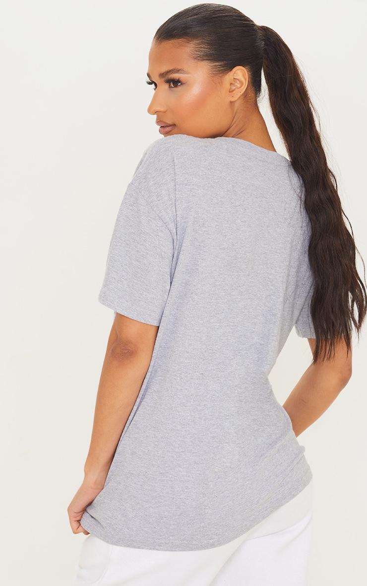 Grey West Palm Beach Print T Shirt 2