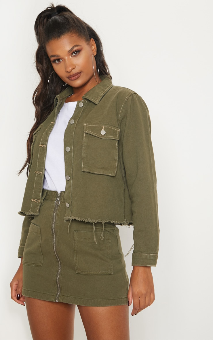 Khaki Trucker Jacket  1