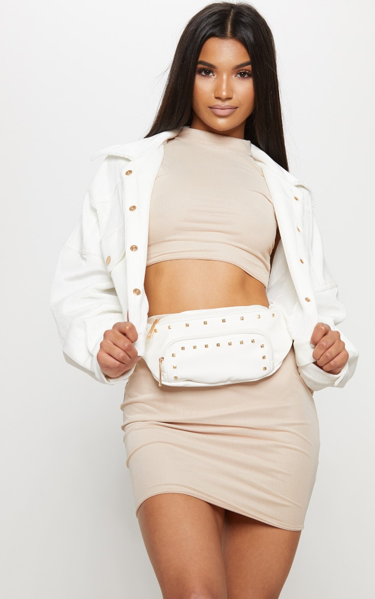 White Stud Bum Bag 2