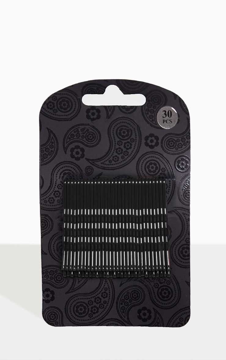 Black Hair Grips 30 Pack 2