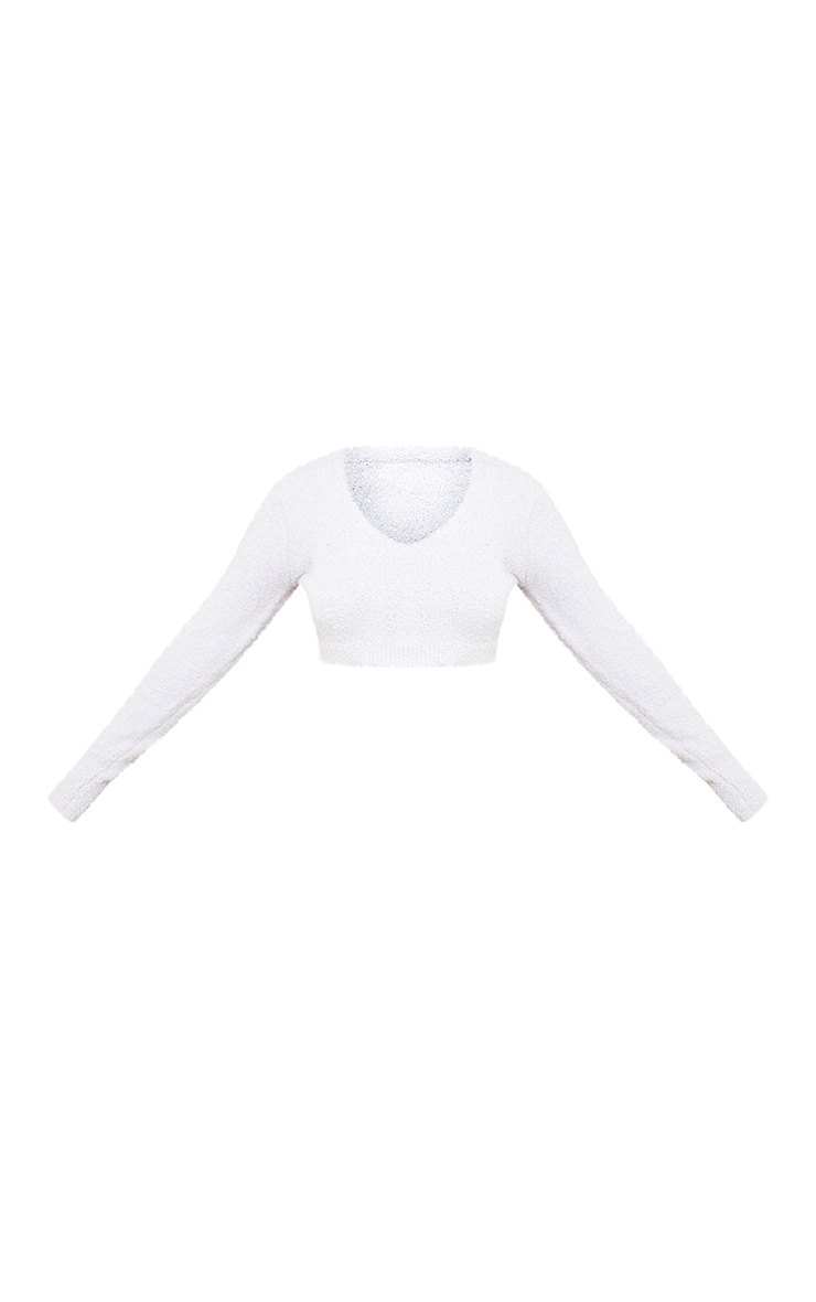 Grey Premium Fluffy Knitted Long Sleeve Top 5